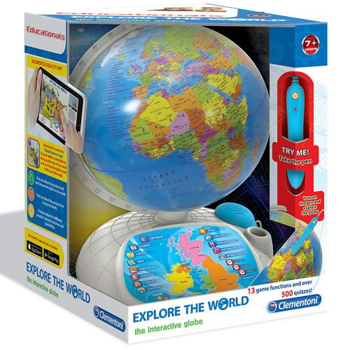 Clemetoni Explore the World Interactive Globe Kids Fun Educational Toy